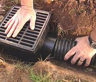 how to install french drain